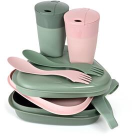 Light My Fire Pack´n Eat Kit BIO para 2 personas, verde/rosa